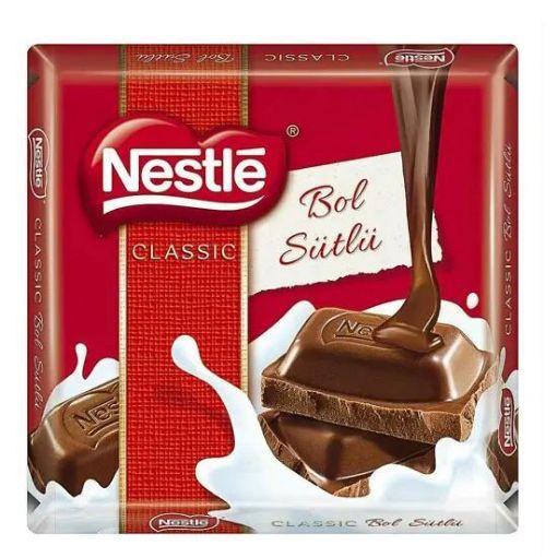 Nestle Classic Sütlü Kare Çikolata 60 G resmi