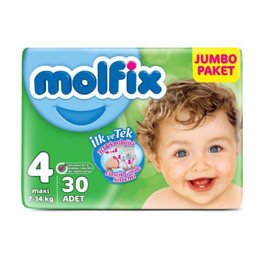 Molfix Jumbo Paket 4 Numara 7-14 Kg 30 Adet resmi