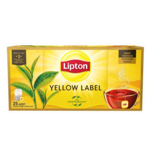 Lipton Yellow Label Çay 25 Li Bardak Poşet resmi