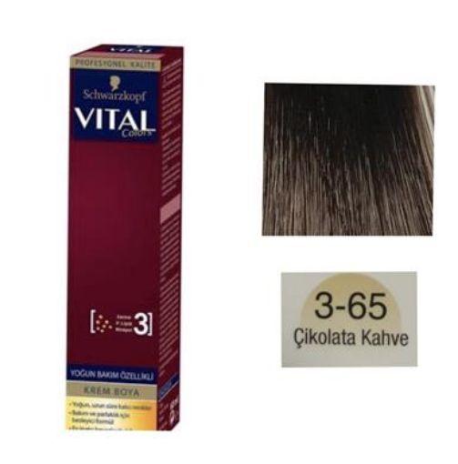 Vıtal Colors Tup Saç Boyası 3-65 Çikolata Kahve resmi