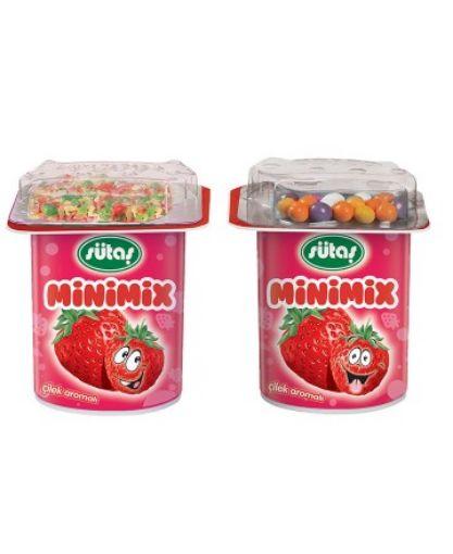 Sütaş Çilekli Minimix 90 Gr resmi