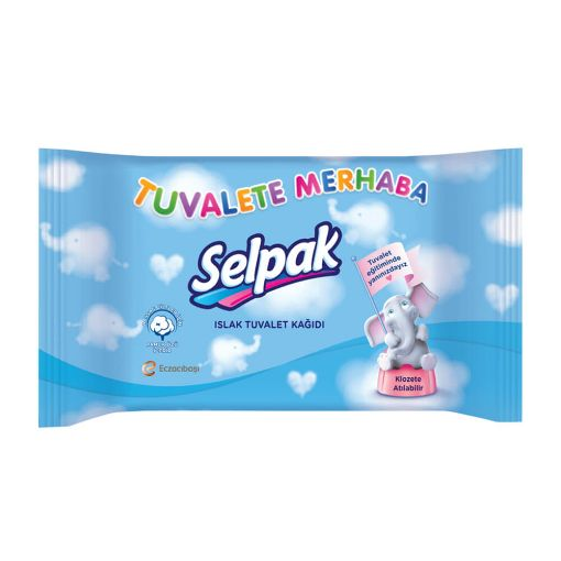 Selpak Çocuk Islak Tuvalet Kağıdı resmi