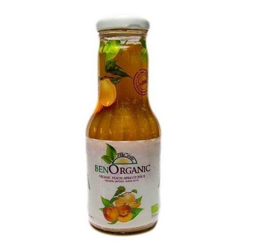 Benorganic Organik Şeftali Kayısı Elma Suyu 250Ml resmi