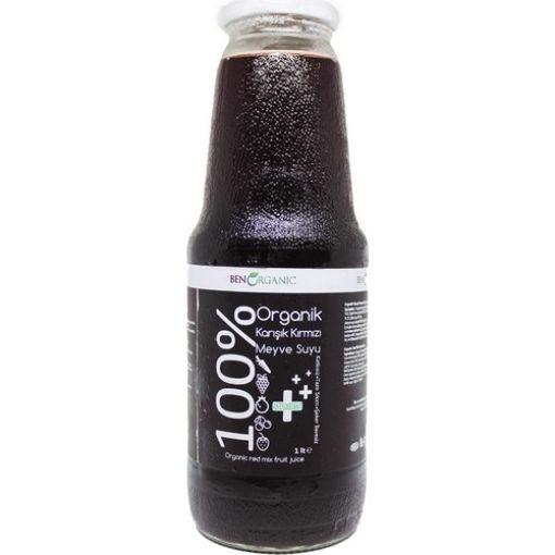 Ben Organik % 100 Karışık Kırmızı Meyve Suyu 1 Lt resmi