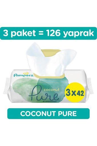 Prima Pampers Islak Havlu 3X42 - Lı  Coco Pure resmi