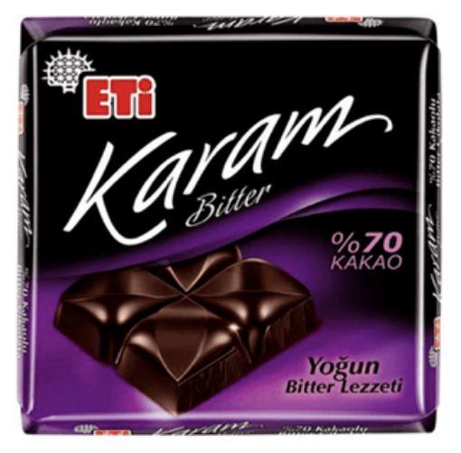 Etı Cık.Kare Karam Bıtter 60 Gr %70 Kakao 2804 resmi