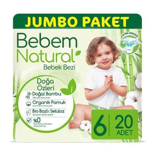 BEBEM NATURAL JUMBO 6 EXT.LARGE 20' LI resmi
