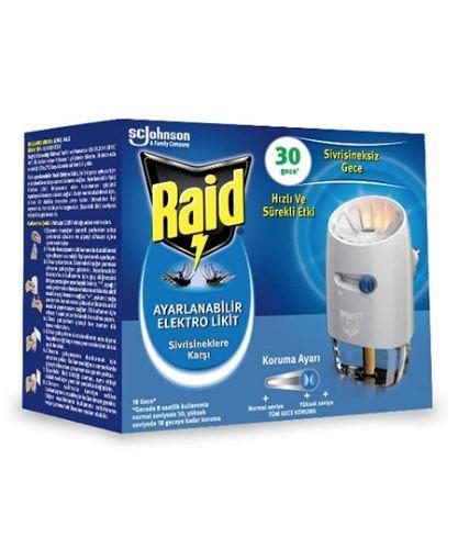 Raid 30 Gece 21 Ml Ayarlanabilir Elektro Likit Sivrisinek Kovucu resmi