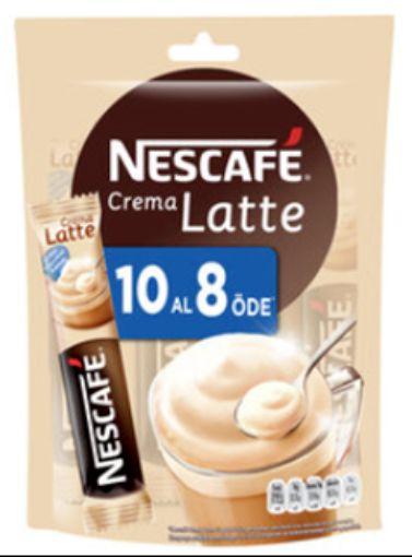 Nescafe Crema Latte 10 Al 8 Öde resmi